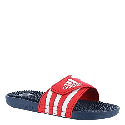adidas Adissage Slide Sandal, Red, 9 M US | Sport Sandals & Slides