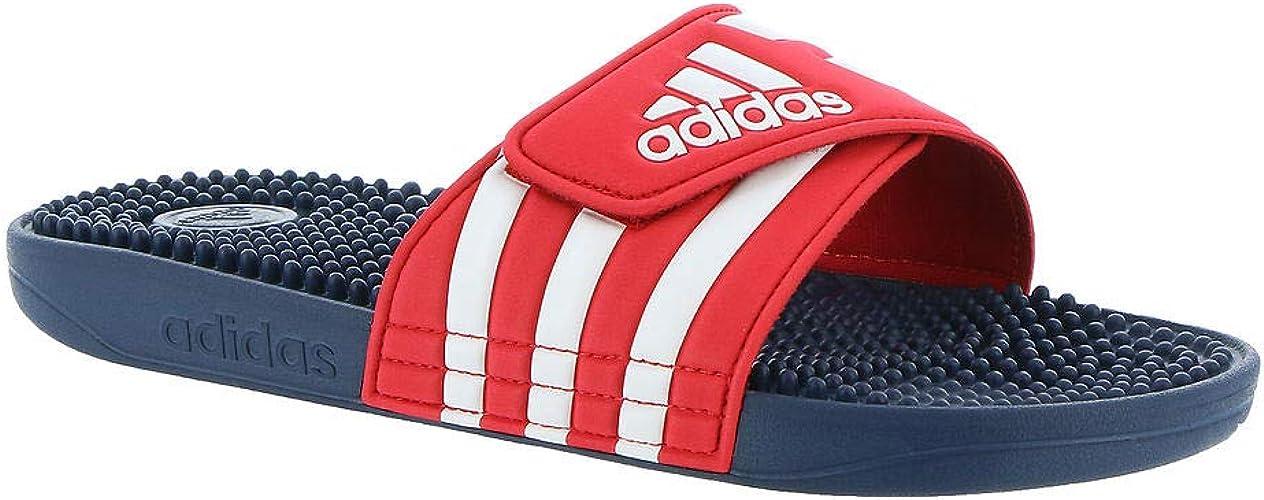 adidas Adissage Slide Sandal, Red, 9 M US: