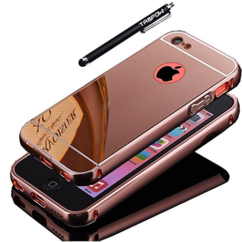 iPhone 5C Case, TabPow [Electroplating Series] Luxury Slim Hard Back Case Cover Bumper [Mirror Case] For iPhone 5C, Rose Gold