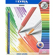 Lyra Osiris Water-Soluble Colored Pencils, 3mm Cores, Set of 36 Pencils, Assorted Colors (2531360)
