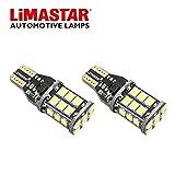 LIMASTAR W16W T15 LED Canbus LED Bulb 921 912 2835 24-SMD Error Free For Backup Reverse Lights Bright White (2 pcs)