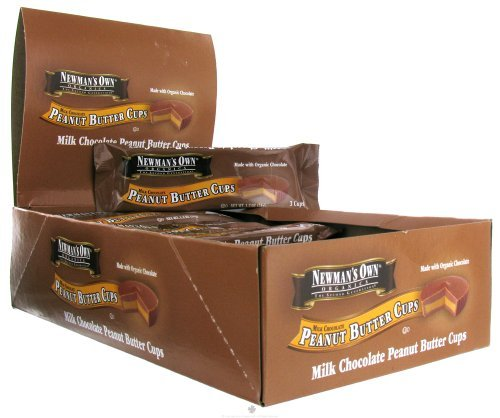 Newman's Own Organics Organic Milk Chocolate Peanut Butter Cups, 1.2 oz, 16 ct - Own Newmans Bar Chocolate