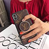 iPhone XR Case,Classic Style Luxury Designer Soft Cover Case with Pop Up Stand for iPhone XR