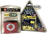 eTape16 ET16.75-DB-RP Digital Tape Measure, 16', Red, Inch and Metric & Authentic Wallet Ninja 18 in 1 Multi-purpose Credit Card Size Pocket Tool (Bundle)