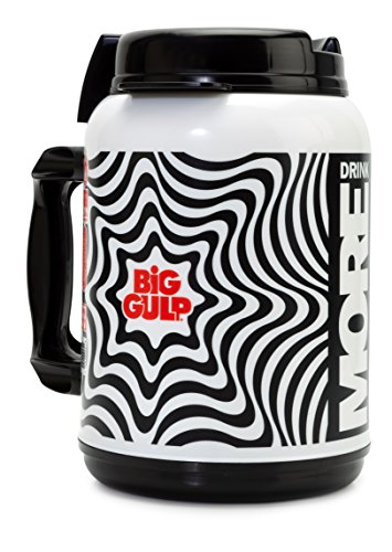 7 Eleven Big Gulp Foam Insulated Travel Mug  52 Oz  Black   White