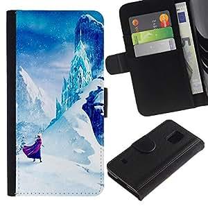 All Phone Most Case / Oferta Especial Cáscara Funda de cuero Monedero Cubierta de proteccion Caso / Wallet Case for Samsung Galaxy S5 V SM-G900 // Mountain Fairytale Kids Children'S