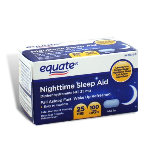 Equate - Nuit Sleep Aid 25 mg, 100 Mini-Caplets (Comparez SimplySleep)
