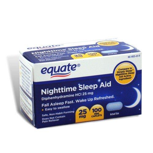 Equate - Nuit Sleep Aid 25 mg, 100