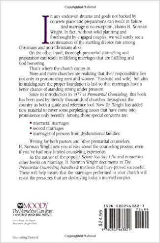 The Premarital Counseling Handbook: H. Norman Wright ...