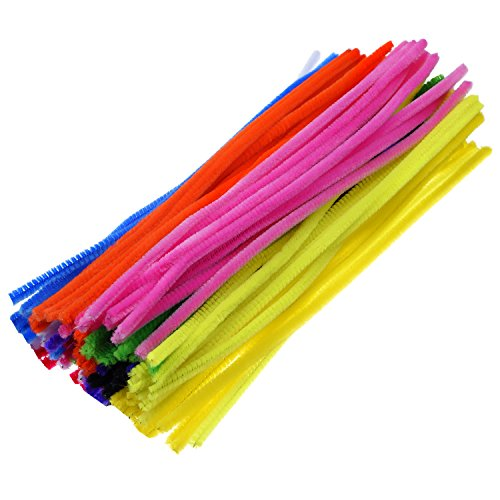 Purple Chenille Stems - eBoot 100 Pieces Pipe Cleaners Chenille Stem for Arts and Crafts, 6 x 300 mm (Multi)