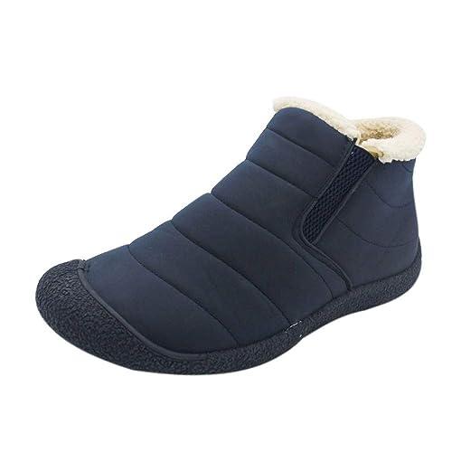 Logobeing Botines Hombre Zapatos Hombre Zapatos de Invierno Botas para la Nieve Parte Inferior Antideslizante Mantener
