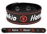 TOKIO HOTEL Rubber Bracelet Wristband Zimmer 483 Red
