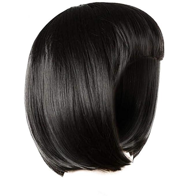 Gaddrt - Peluca corta de mujer de pelo corto con flequillo ...