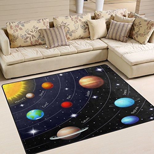 (ALAZA Outer Space Solar System Area Rug for Living Room Bedroom 5'3 x)