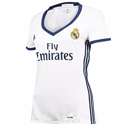 e5594a0a1 Amazon.com   Adidas Women s Real Madrid 16 17 Home Crystal White Raw ...