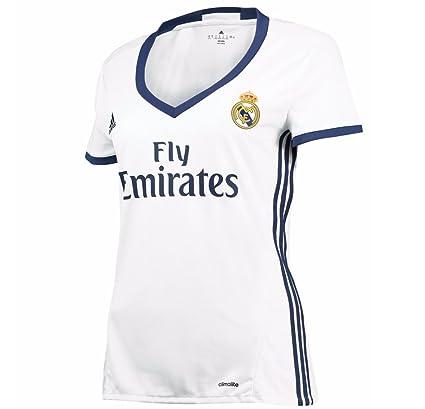 e5594a0a1 Amazon.com   Adidas Women s Real Madrid 16 17 Home Crystal White Raw ...