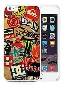Classic Skateboard Logos White Cool Photo Custom iPhone 6plus 5.5 Inch TPU Phone Case