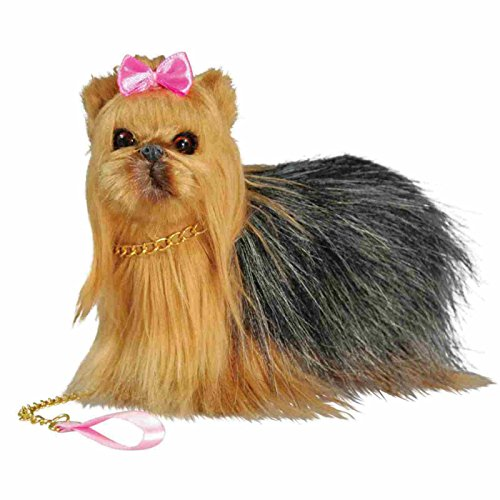 Doll's Best Friend Adorably Realistic Yorkie Dog with Collar & Leash! Perfect for Your 18 Inch American Girl Doll! Dog Carrier Box. Animal Accessories Designed for 18 inch girl dolls.