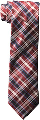 U.s. Polo Assn. Men's Herringbone Plaid Tie, new red, One Size (Tie Plaid Red Polyester)
