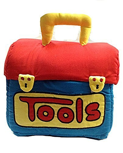 SOFTTOYS Fabric Tool Box Children's Soft Tools Play Set with 5 Washable Toys for Ages Baby - Soft Sculpture Toys