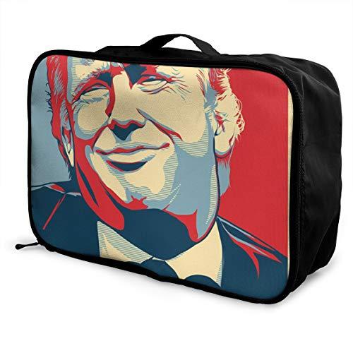 Donald Trump Nope Lightweight Large Capacity Portable Luggage Bag Fashion Travel Duffel Bag