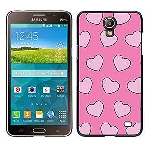 Caucho caso de Shell duro de la cubierta de accesorios de protección BY RAYDREAMMM - Samsung Galaxy Mega 2 - valentín amor rosa corazones rosa xoxo