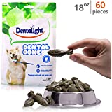 Dog Treats - Dental Green Chews - Dog Dental Treats In 3 Variations | CleanS Teeth, Fights Tartar Buildup & Plaque | Natural with Added Prebiotics, Vitamins & Minerals 18 oz (Mini 1.1 - 15.5 LBS