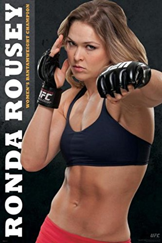 Pyramid America Ronda Rousey Official UFC Fighter Champion Poster 24x36 inch