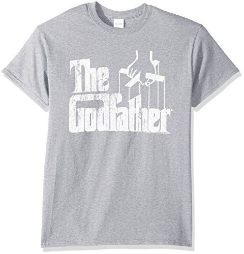 American Classics Men's Godfather Distressed Logo T-Shirt, Gray Heather ()