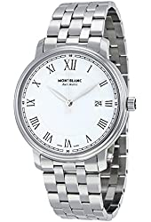 Montblanc Tradition Automatic White Dial Stainless Steel Mens Watch 112610