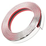 OTOLIMAN 25mm x 5metre (1inchx16feet) Car Chrome Moulding Trim Strip Decoration PVC Tape Sticky - Bumper Door Guard Protection