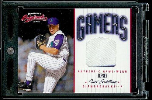 2002 Donruss Originals Gamers Curt Schilling Game Worn Jersey #ed/250 Arizona Diamondbacks Baseball Card - Mint Condition - In Protective Screwdown Case!