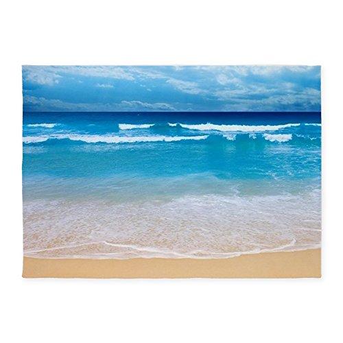 CafePress - Tropical Wave - Decorative Area Rug, 5'x7' Throw Rug by CafePress