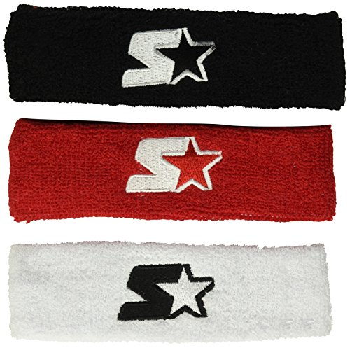 - Starter Youth Unisex 3-Pack Headband, Amazon Exclusive, Black/White/Team Red, One Size