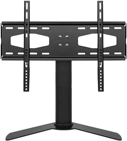 Soporte de la TV Universal TV Mueble de TV reemplazo Base de Mesa con Pedestal Mueble de TV Tabla Duradero Montaje de la TV Soportes (Color : Black, Size : 26-32 Inches):