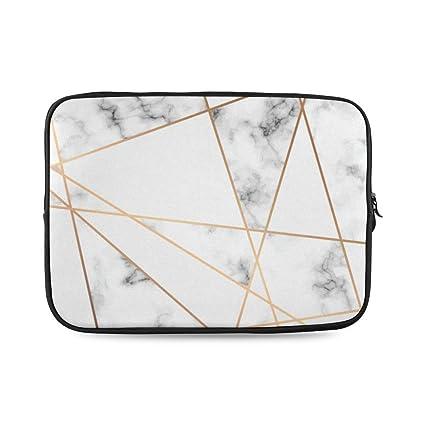 ccc6b169aa47 Amazon.com: Gold Marble Laptop Sleeve Marble Print Laptop Case Case ...