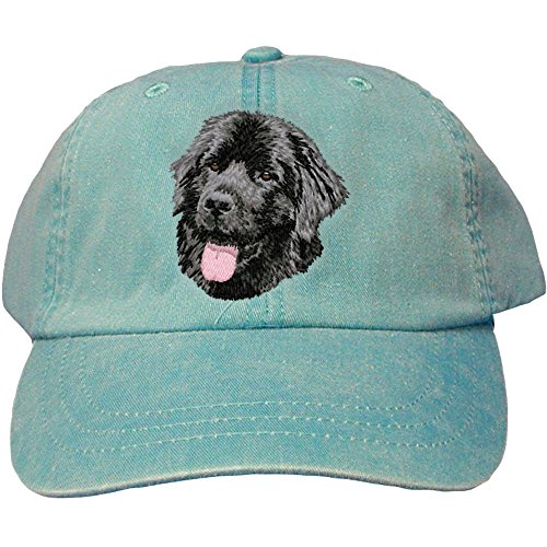 Cherrybrook Dog Breed Embroidered Adams Cotton Twill Caps - Caribbean Blue - Newfoundland