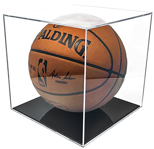 BallQube Grandstand Basketball Display with 98% UV Coating