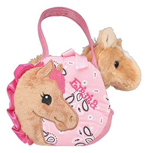 Personalized Embroidered Aurora Purse & Pretty Pony Stuffed Animal Set