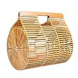 HOSPORT Women Straw Bag Bamboo Hollow Handbags Summer Totes