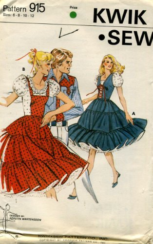 Kwik Sew Pattern 915 Ladies' Square Dance Dress, Size ()