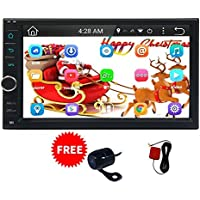 EinCar Android NO DVD 7 Lollipop 2 Din Car Stereo Multi-Touch Screen GPS Navigation System Quad Core 800480 Android 5.1 7-inch Display Bluetooth AM/FM Radio Receiver Mirror Link and Backup Camera