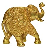 Large Gold Elegant Elephant Brass Statue Sculpture Lucky Figurine House Warming Gift & Home Decor Congratulatory Blessing Christmas Gift Item