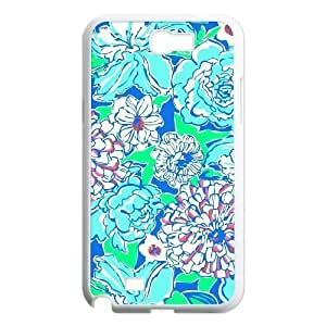 Blue Flowers Original New Print DIY Phone For SamSung Note 2 Case Cover personalized ygtg612040