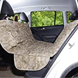AMOFY Dog Seat Cover for Car Back Seat, Machine Washable, Dog Hammock Scratch-Proof, Waterproof, Non-Slip, Durable Portable Car Back Seat Protector for Cars, Trucks, SUVs, Camouflage
