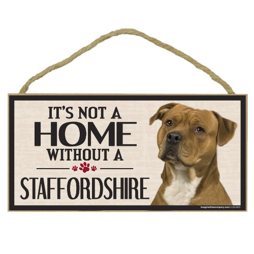Imagine This Wood Sign for Staffordshire Dog Breeds