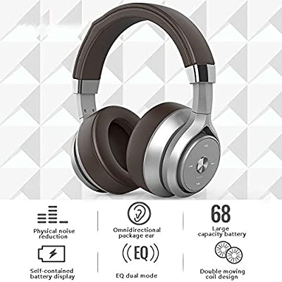 FCHDZ Bluetooth headphones over ear wireless bluetooth headphones over ear with mic physical noise reduction charge display dual mode suitable for most bluetooth-enabled devices