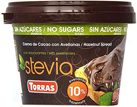 Torras Stevia Hazelnut Chocolate Spread 200 g (Pack of 2): Amazon ...