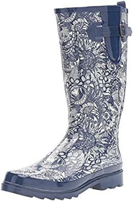 The SAK Women's Rhythm Rain Shoe, Navy Spirit Desert, 10 M US