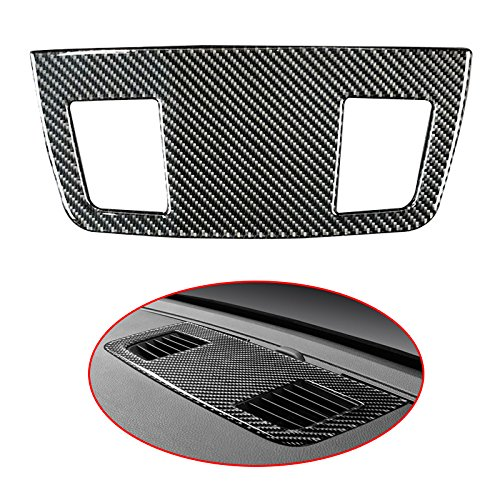 E90 Carbon Fiber - Arotom For BMW E90 E92 E93 3 Series Carbon Fiber Air Vent Outlet Panel Cover Sticker (Pure Color)